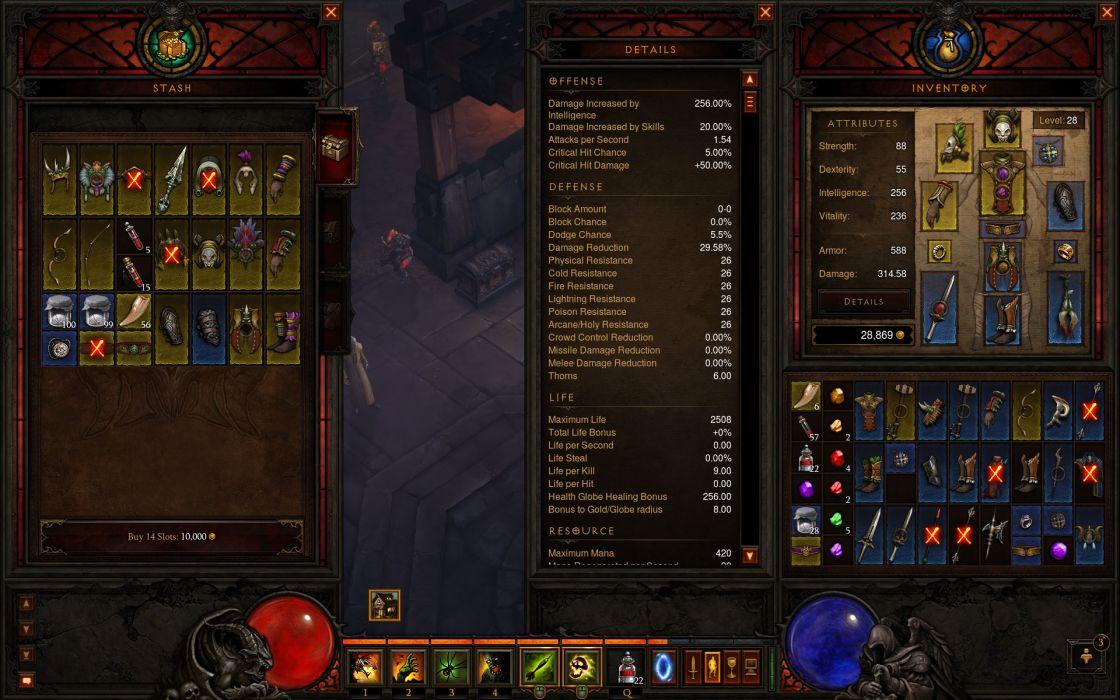 Diablo 3 menu details wallpaper