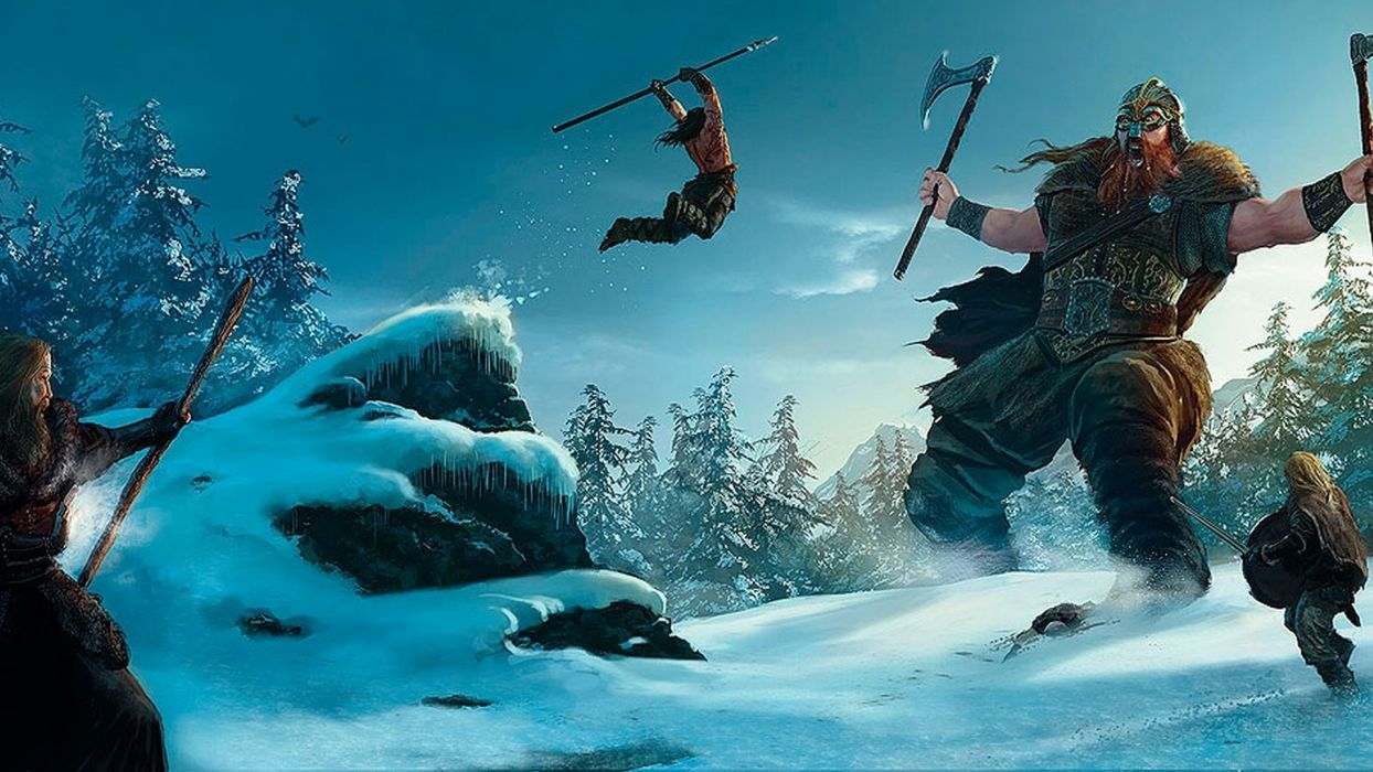 Marc Simonetti fantasy art vikings battle weapons warriors wallpaper