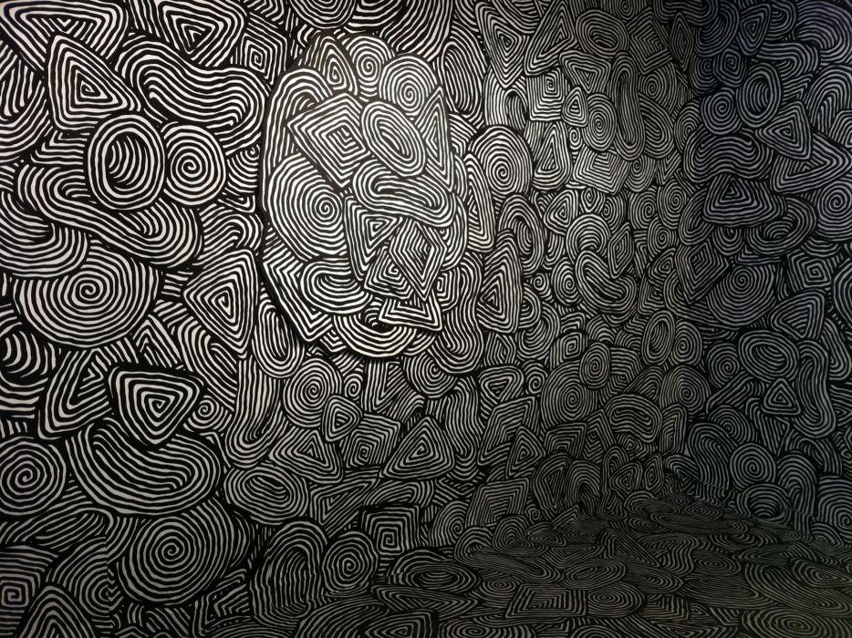 Mind Teaser Psychedelic Pattern Texture Spiral Black White 3d Wallpaper