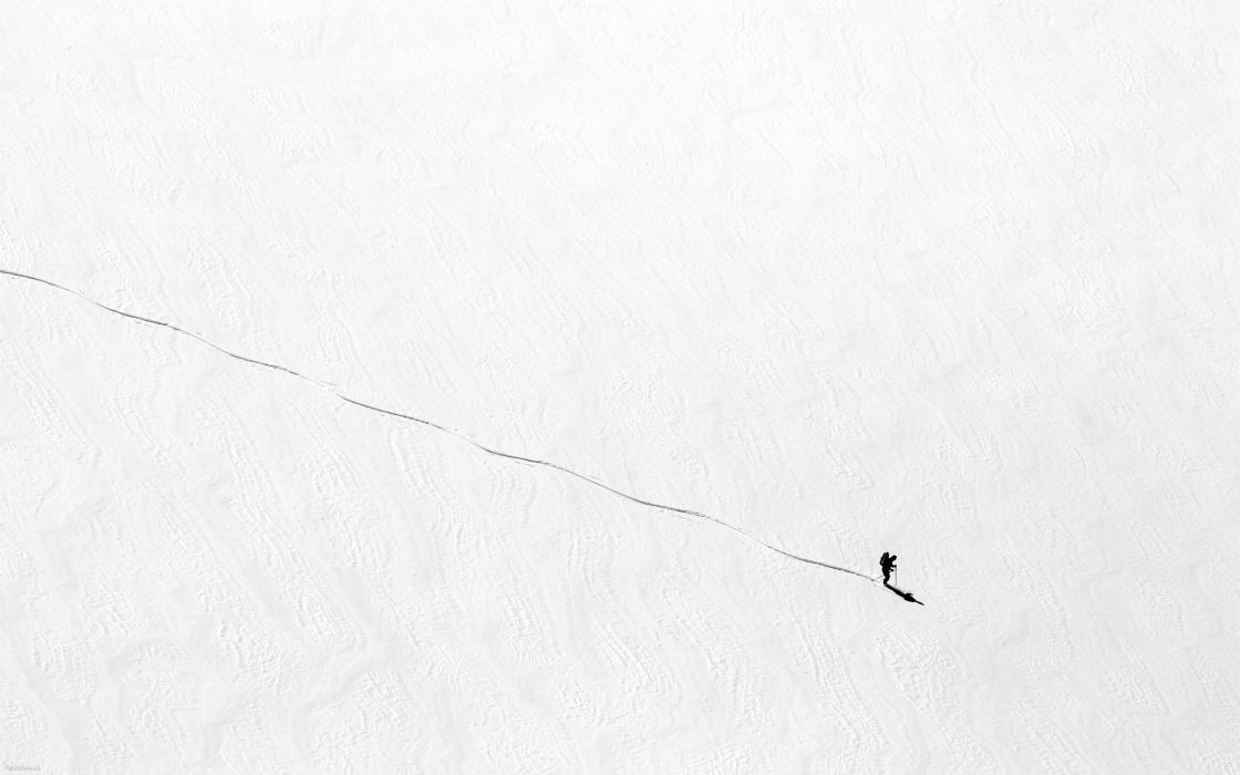sports ski winter snow landscapes nature mountains people solo wallpaper