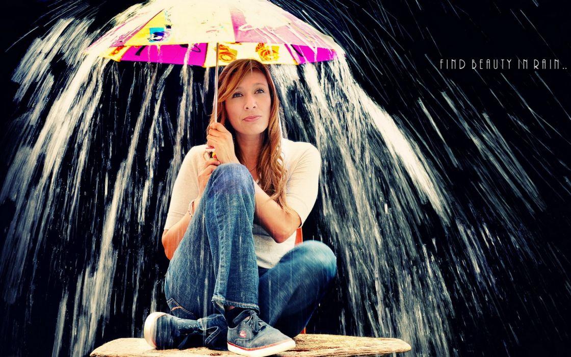 text umbrella water drops rain humor quotes motivation inspiration women females models mood wallpaper