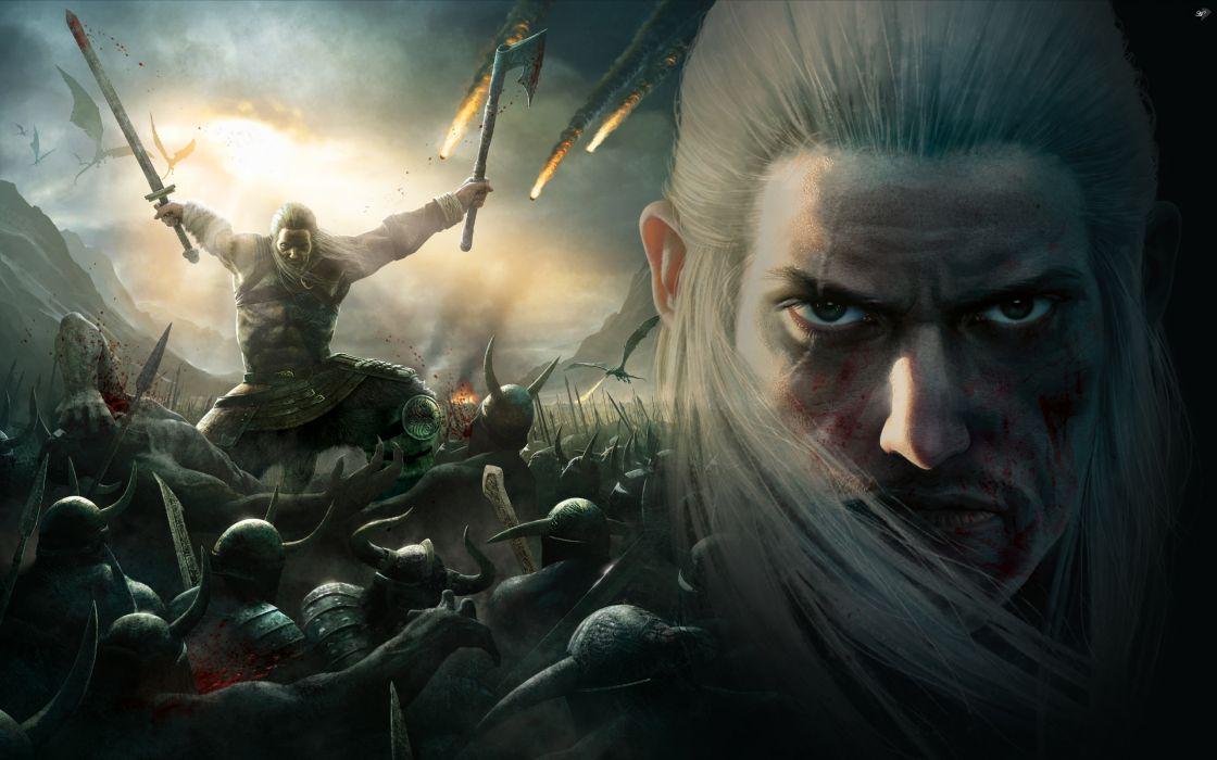 Viking Battle for Asgard video fantasy warrior battle weapons castle dragons   g wallpaper