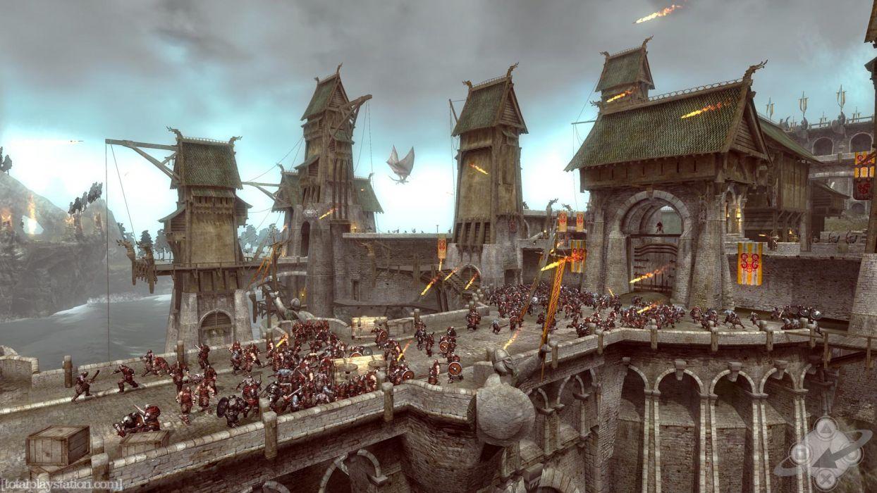 Viking Battle for Asgard video fantasy warrior battle weapons castle dragons wallpaper