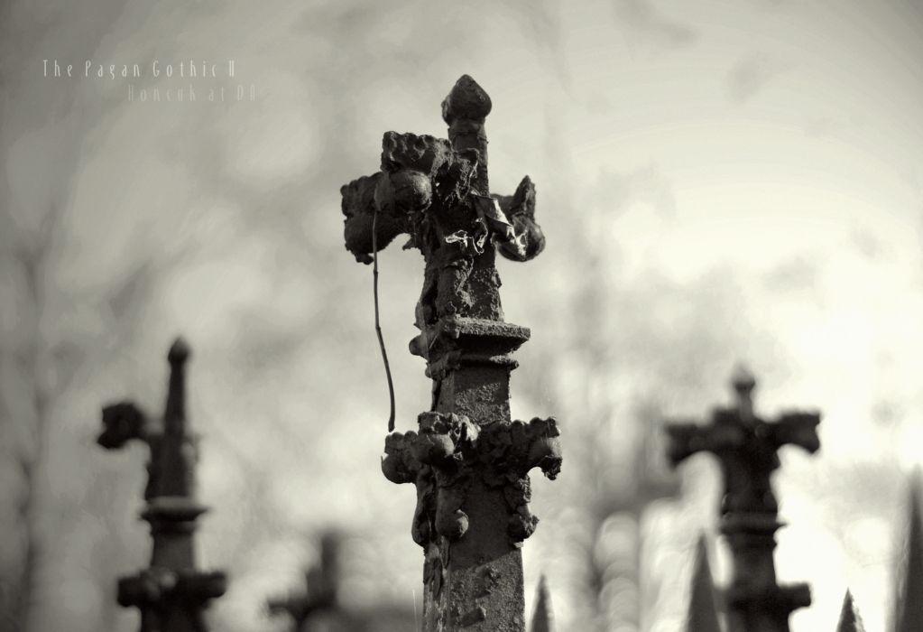 pagan occult witch cemetery black white gothic dark wallpaper
