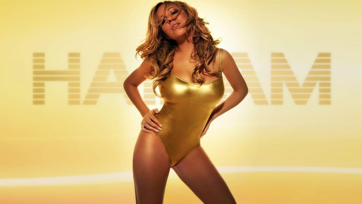 Mariah Carey singers pop music women brunettes sexy babes awinwear face pov eyes females wallpaper