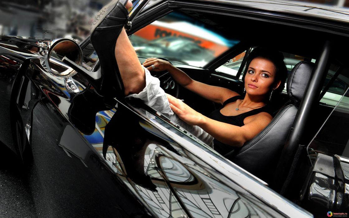 women models brunettes sexy babes cars females wallpaper