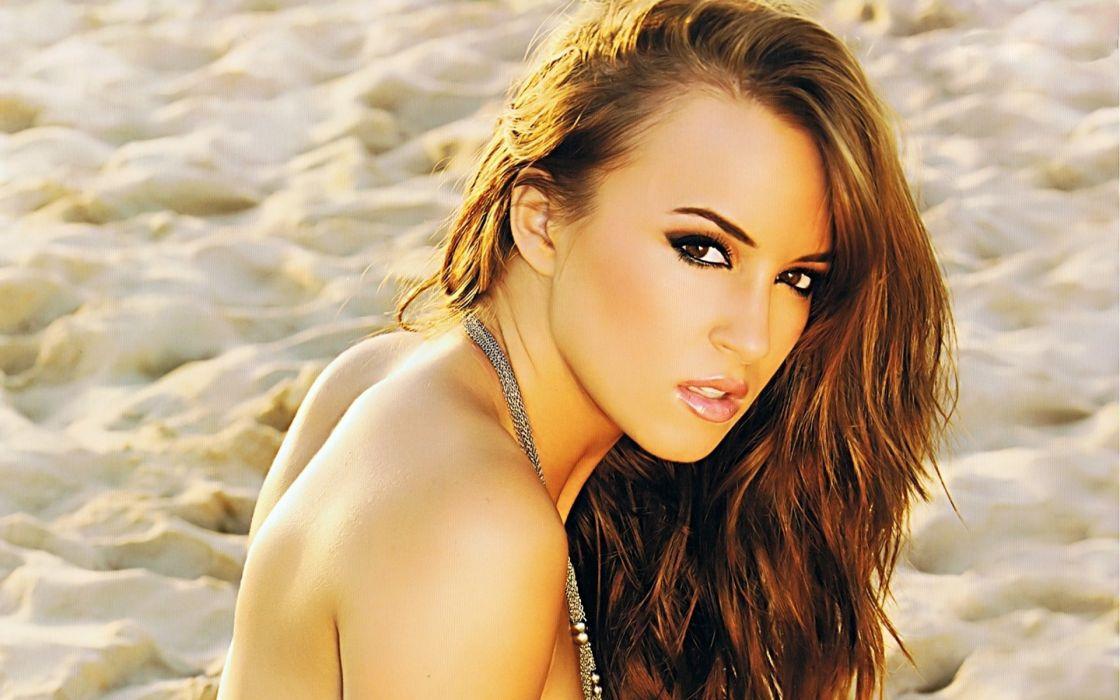 Rosie Jones women females fashion glamour brunettes sexy babes face eyes pov beaches sand wallpaper