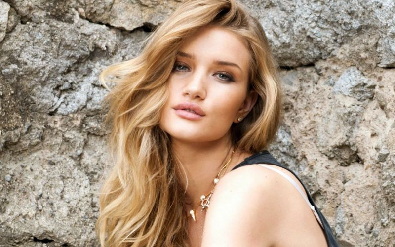 Rosie Huntington Whiteley women females fashion models glamour blondes sexy babes u wallpaper