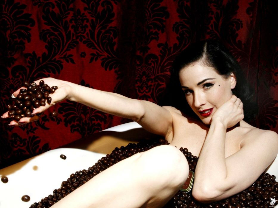 Dita von Teese burlesque dancer model costume designer actress glam women sexy babes females           w wallpaper