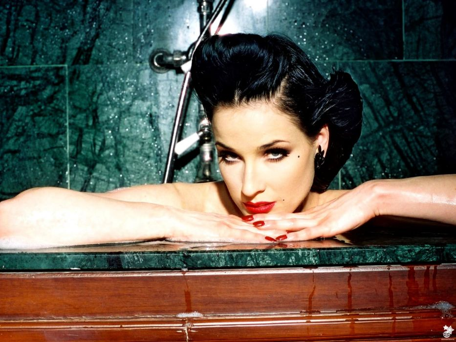 Dita von Teese burlesque dancer model costume designer actress glam women sexy babes females          o wallpaper
