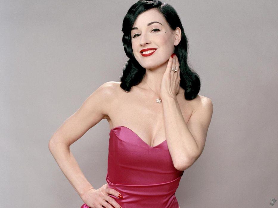 Dita von Teese burlesque dancer model costume designer actress glam women sexy babes females            b wallpaper