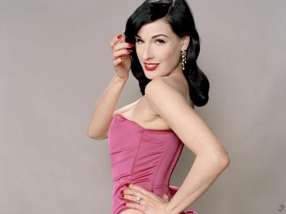 Dita von Teese burlesque dancer model costume designer actress glam women sexy babes females           e wallpaper