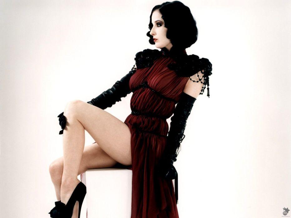 Dita von Teese burlesque dancer model costume designer actress glam women sexy babes females        l wallpaper