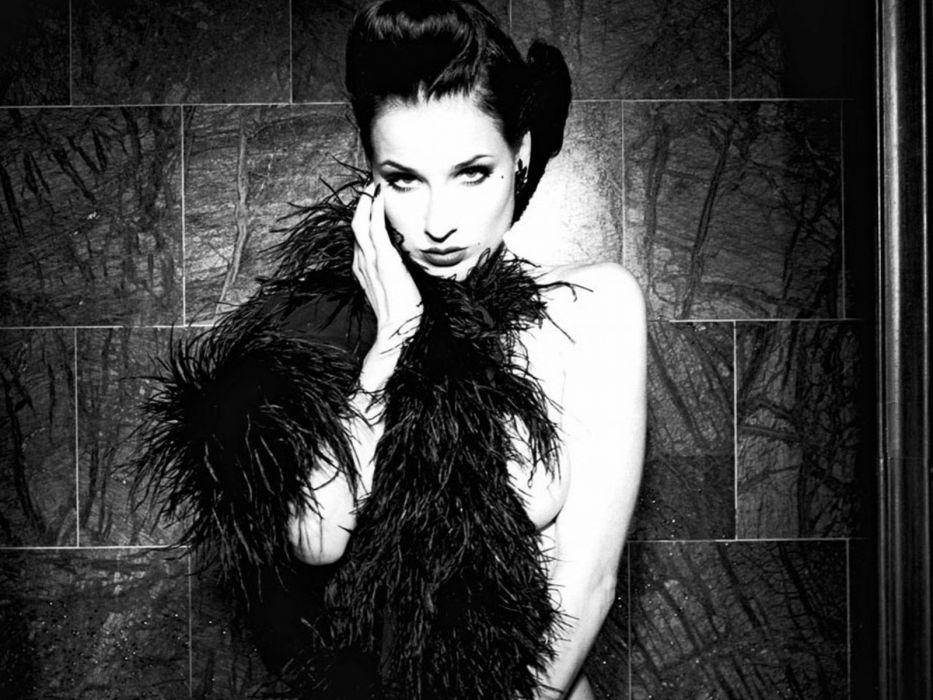 Dita von Teese burlesque dancer model costume designer actress glam women sexy babes females black white      u wallpaper