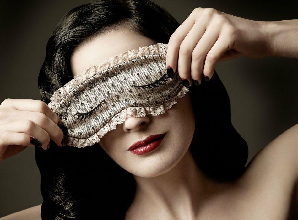 Dita von Teese burlesque dancer model costume designer actress glam women sexy babes females mask humor wallpaper
