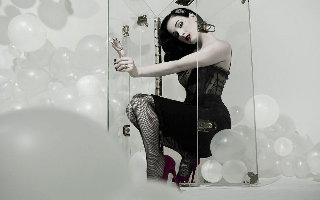 Dita von Teese burlesque dancer model costume designer actress glam women sexy babes females        a wallpaper