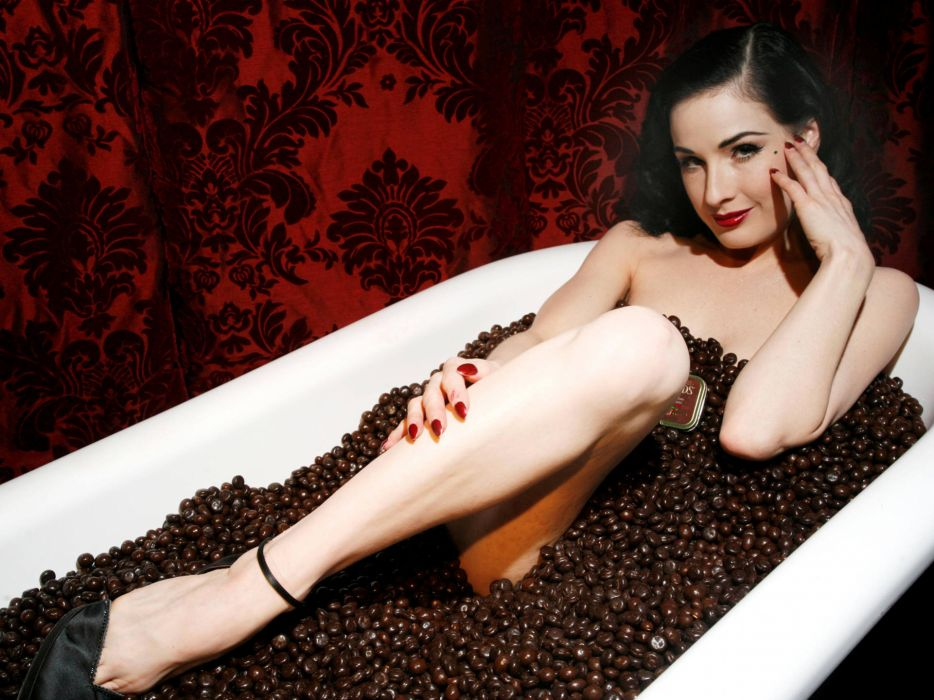 Dita von Teese burlesque dancer model costume designer actress glam women sexy babes females       z wallpaper