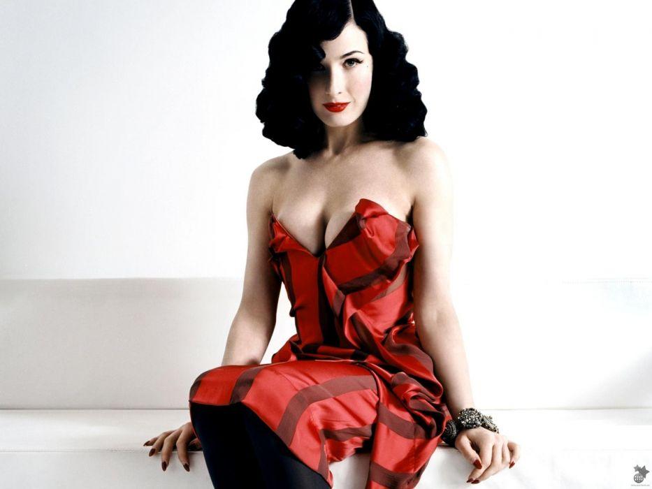 Dita von Teese burlesque dancer model costume designer actress glam women sexy babes females       n wallpaper