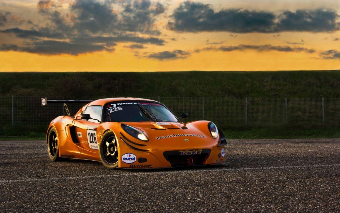 Lotus exige gt3 race car track orange wallpaper | 1920x1200 | 41722 ...