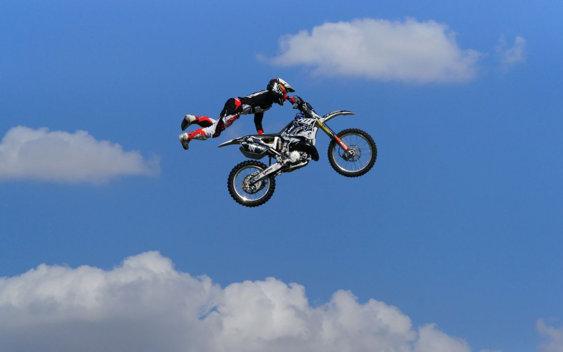 motorcycle motocross bikes sports extreme flight bikes wallpaper