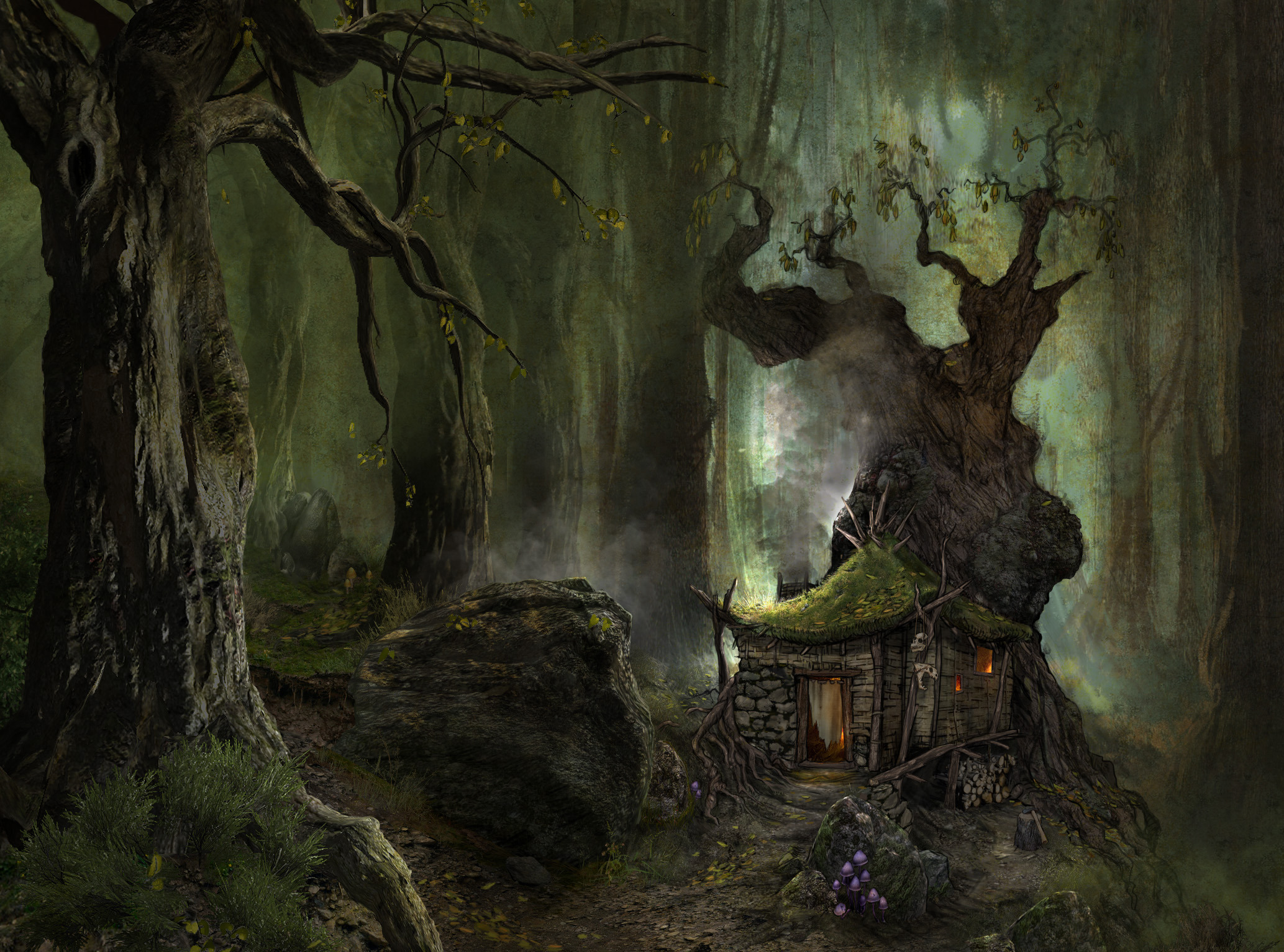 ArcaniA Gothic 4 fantasy art landscapes forest trees wods ...