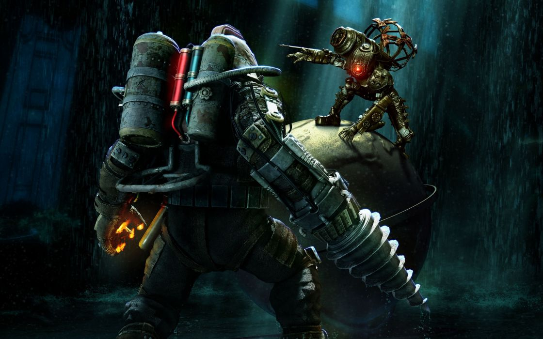 BioShock 2 sci-fi mecha robots wallpaper
