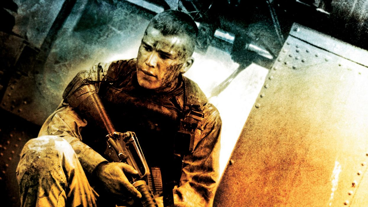 Black Hawk Down Josh Hartnett Soldier military warriors weapons guns assault rifle people men males wallpaper
