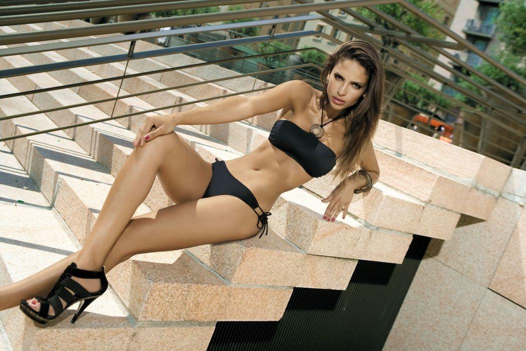 Camila Morais Brazilian Lingerie Model women females brunettes sexy babes bikini swimwear        n wallpaper