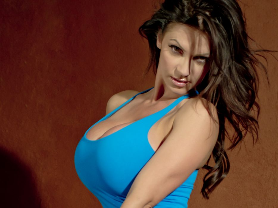 Denise Milani adult women models brunettes sexy babes cleavage females face eyes pov           e wallpaper
