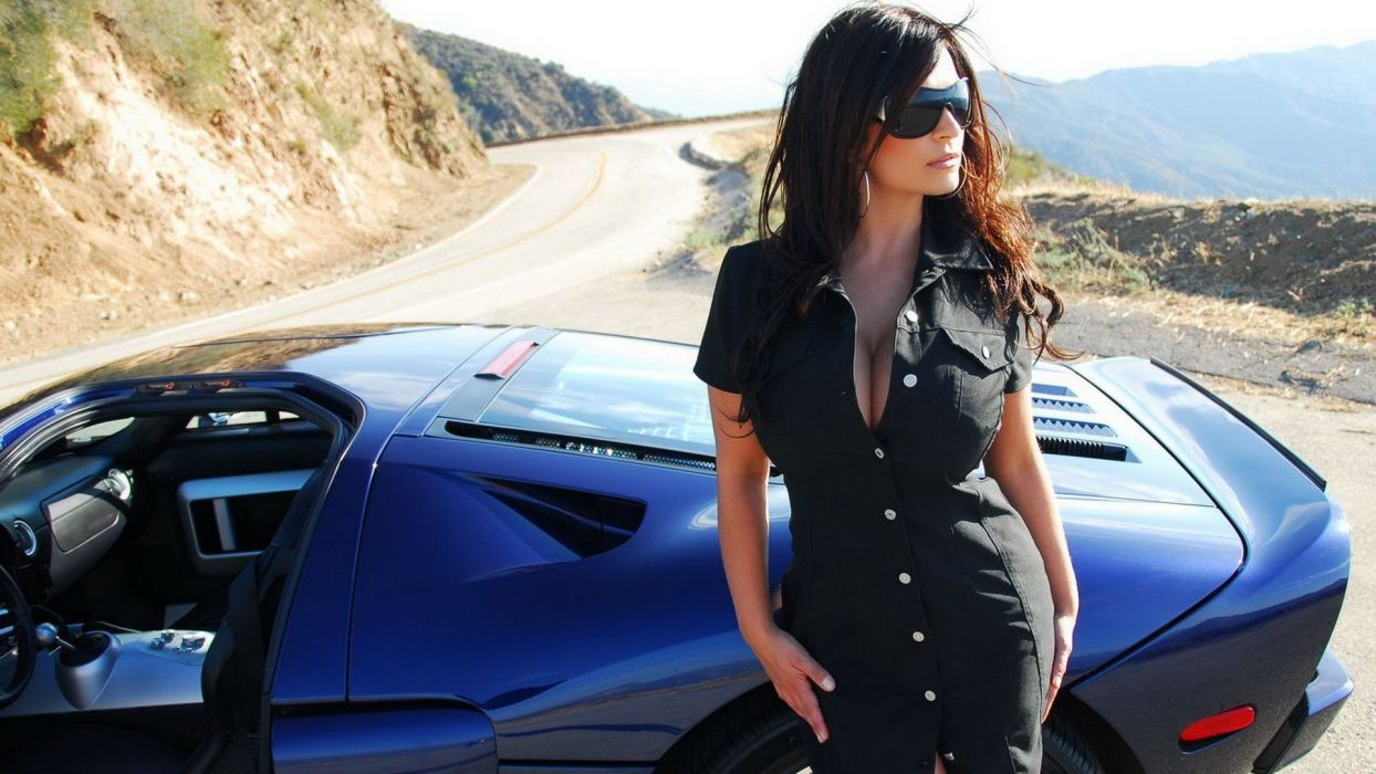 Denise Milani adult women models brunettes sexy babes cleavage females glasses wallpaper