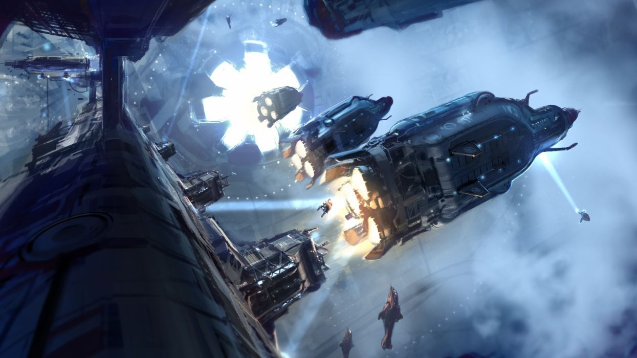 Halo 4 Concept Art sci-fi warriors futuristic vehicles spacship spacecraft space wallpaper