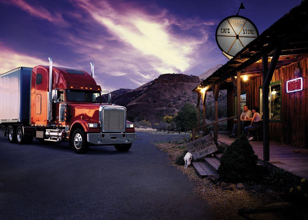 freightliner semi tractor trucks wallpaper