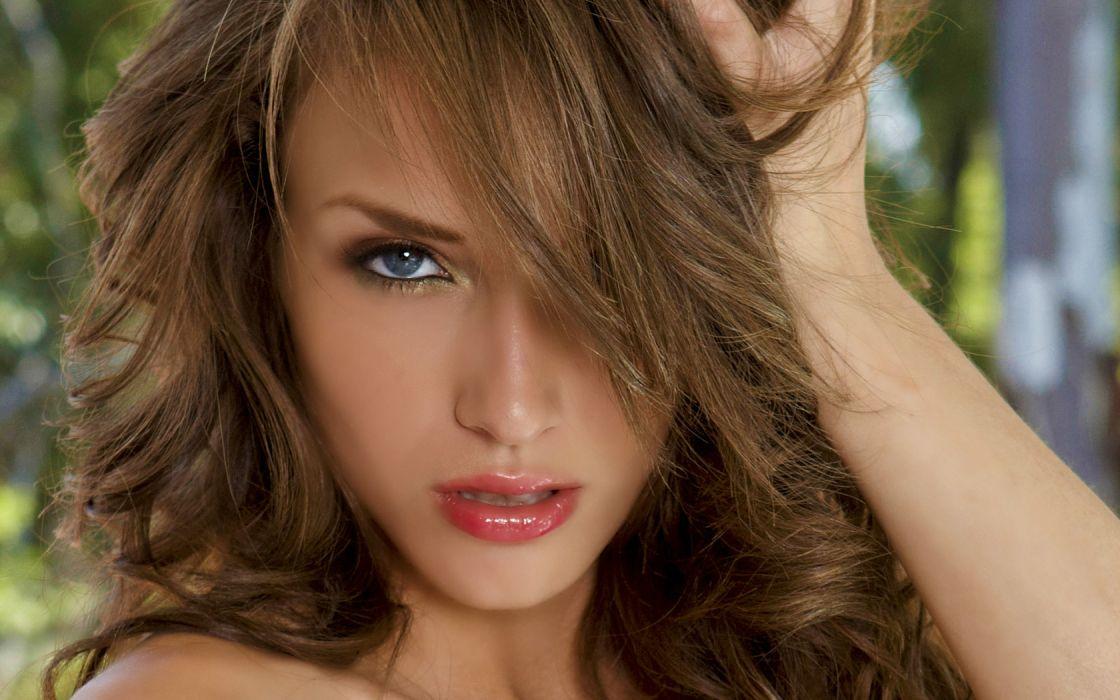 Malena Morgan adult women females models actress brunettes sexy babes face eyes pov       o wallpaper