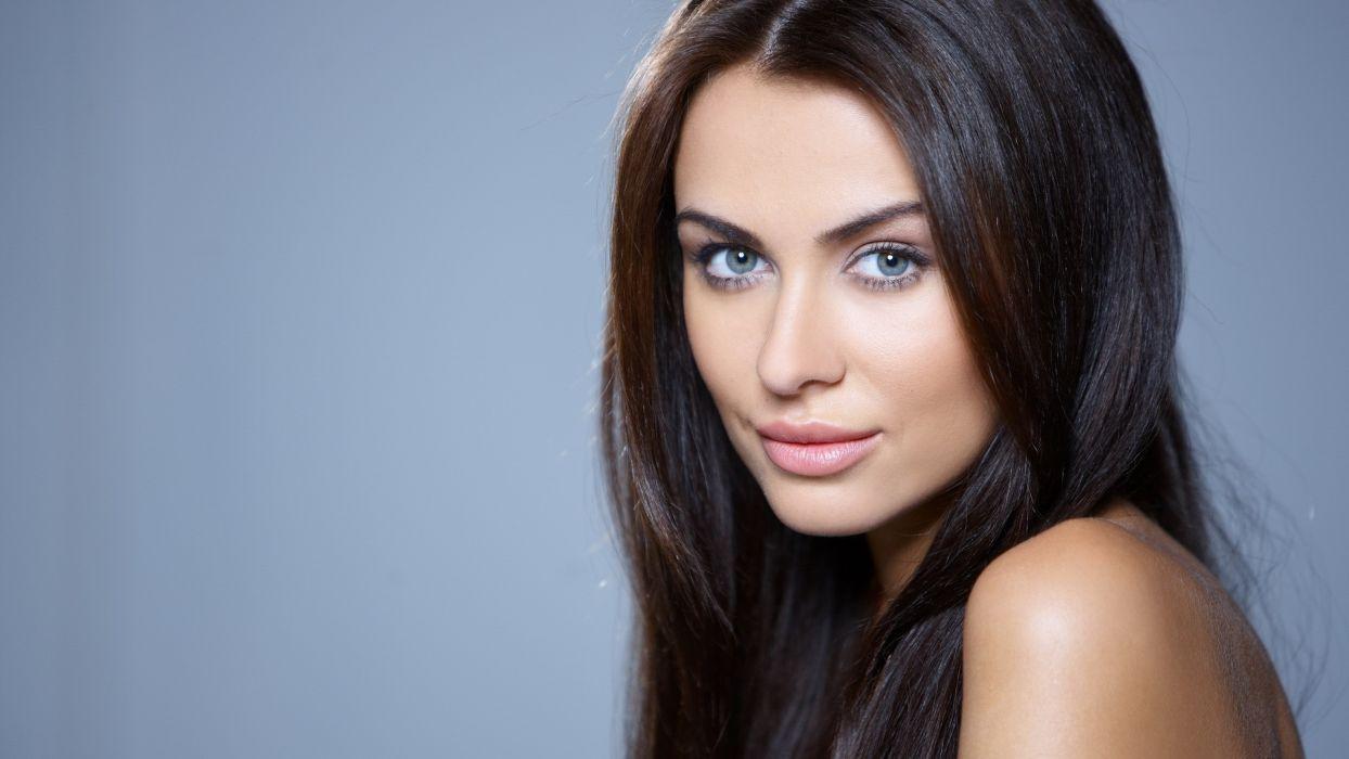 Natalia Siwiec women females fashion glamour models brunettes sexy babes faces eyes pov wallpaper