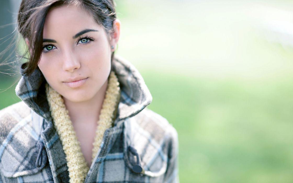 Madeline Warner women models females babes brunettes face eyes pov wallpaper