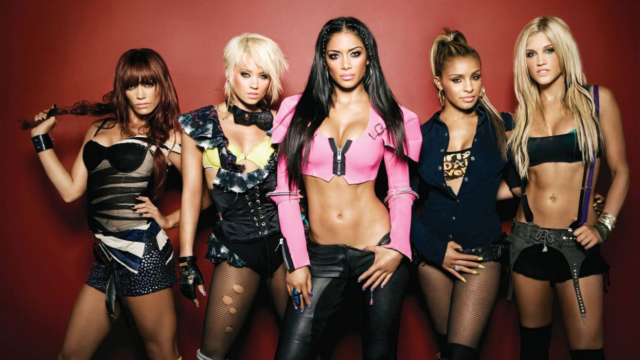 Pussycat Dolls groups pop women singers musician blondes brunettes sexy babes females     e wallpaper
