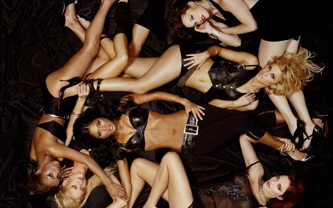 Pussycat Dolls groups pop women singers musician blondes brunettes sexy babes females     o wallpaper