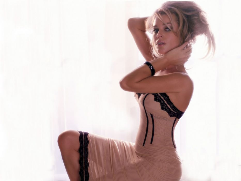 Rebecca Romijn actress women females models blondes sexy babes wallpaper