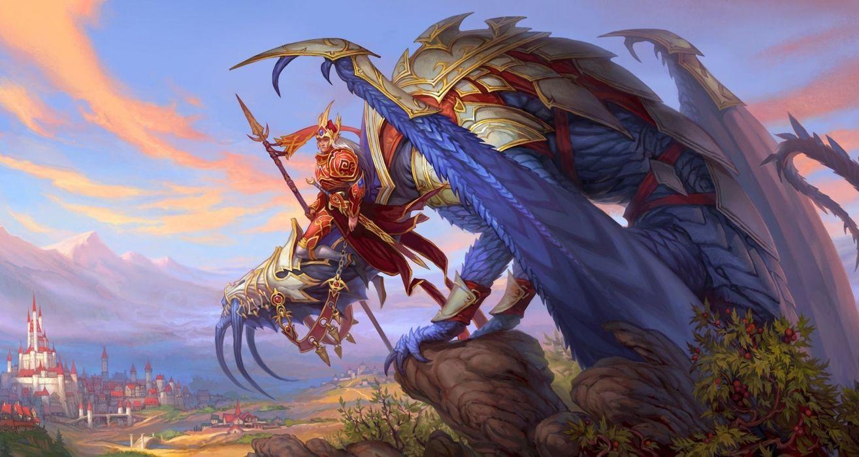 Rune Age board games fantasy warror dragon castle wallpaper