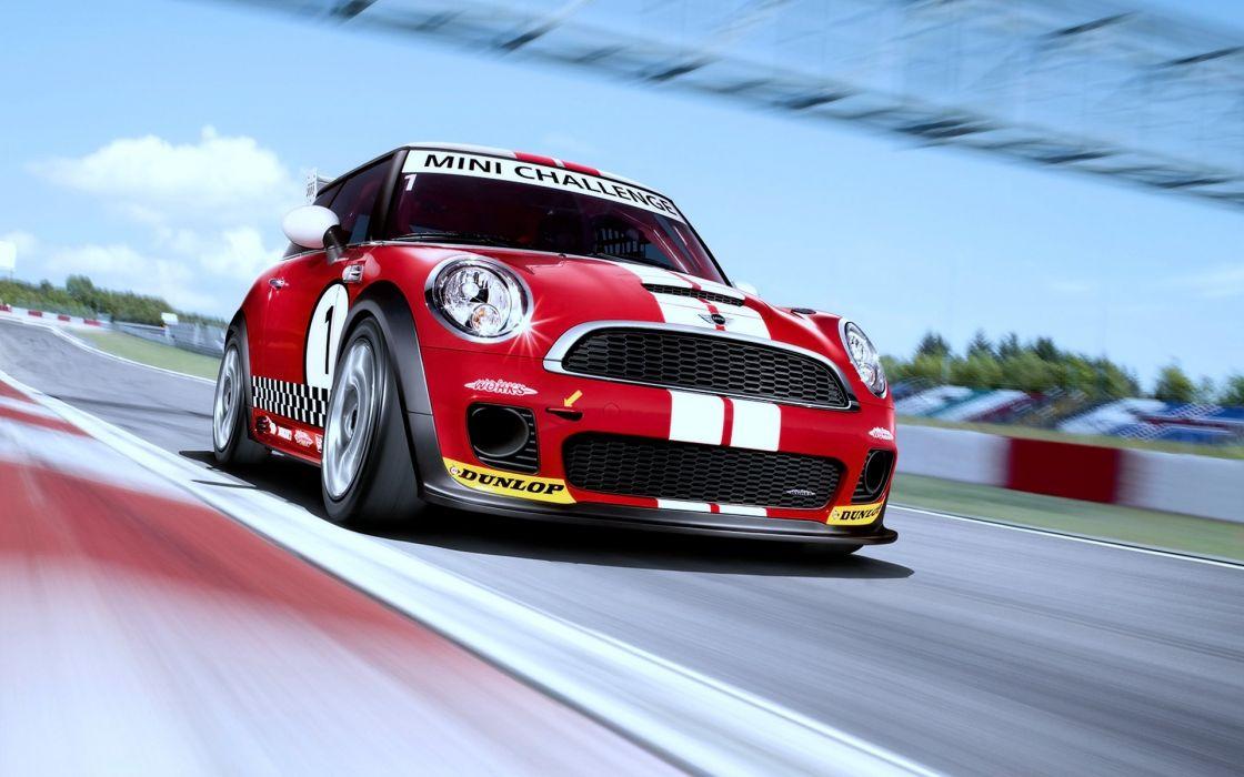 Sports Mini Cooper racing race cars tuning wallpaper