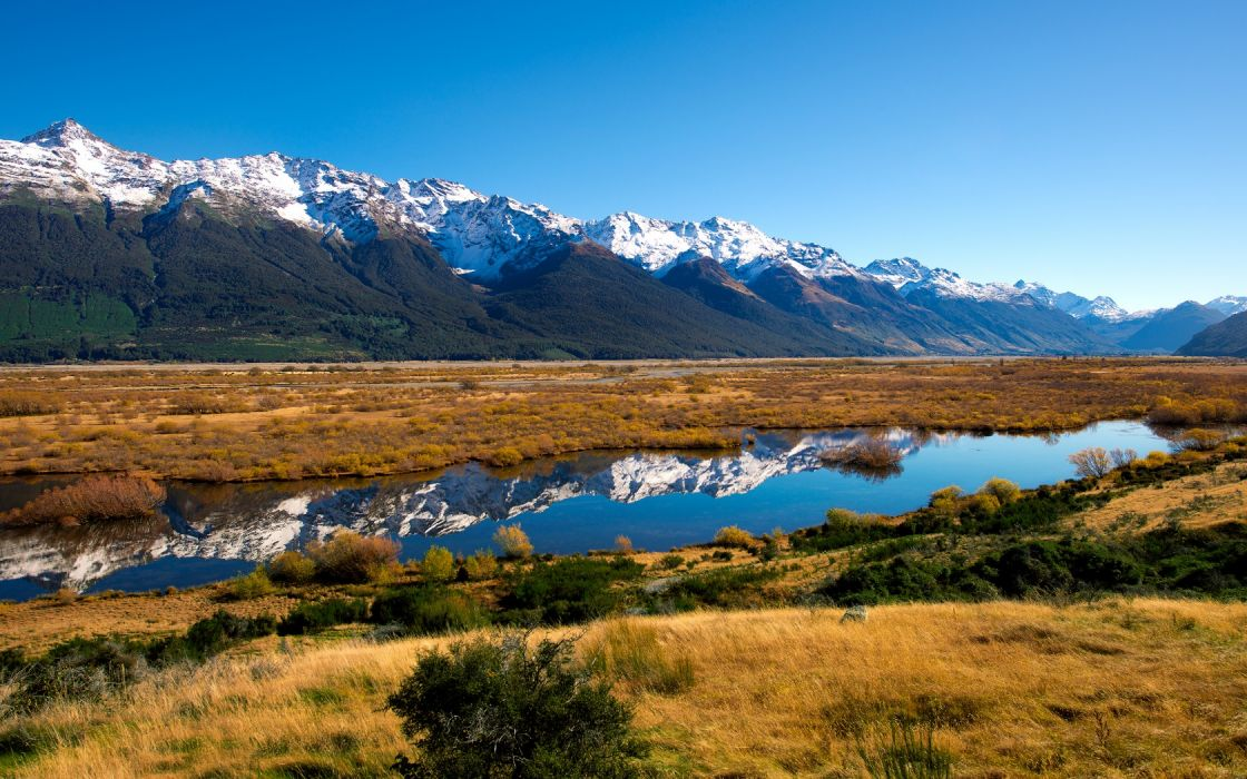 lakes reflection water nature landscapes grass mountains sky range peaks wallpaper
