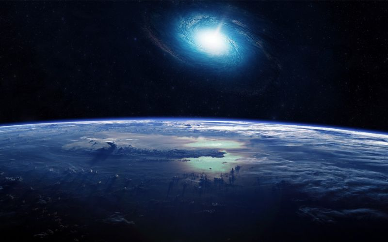 planets landscapes clouds galaxy space sci-fi wallpaper