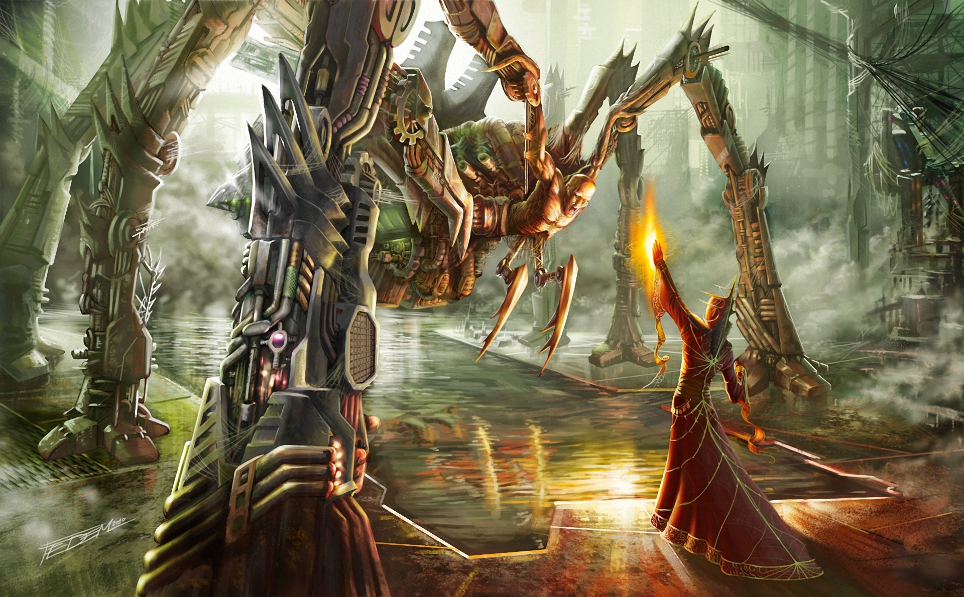 artwork Fantasy Art Mech Robot Spider Digital Art Wallpapers
