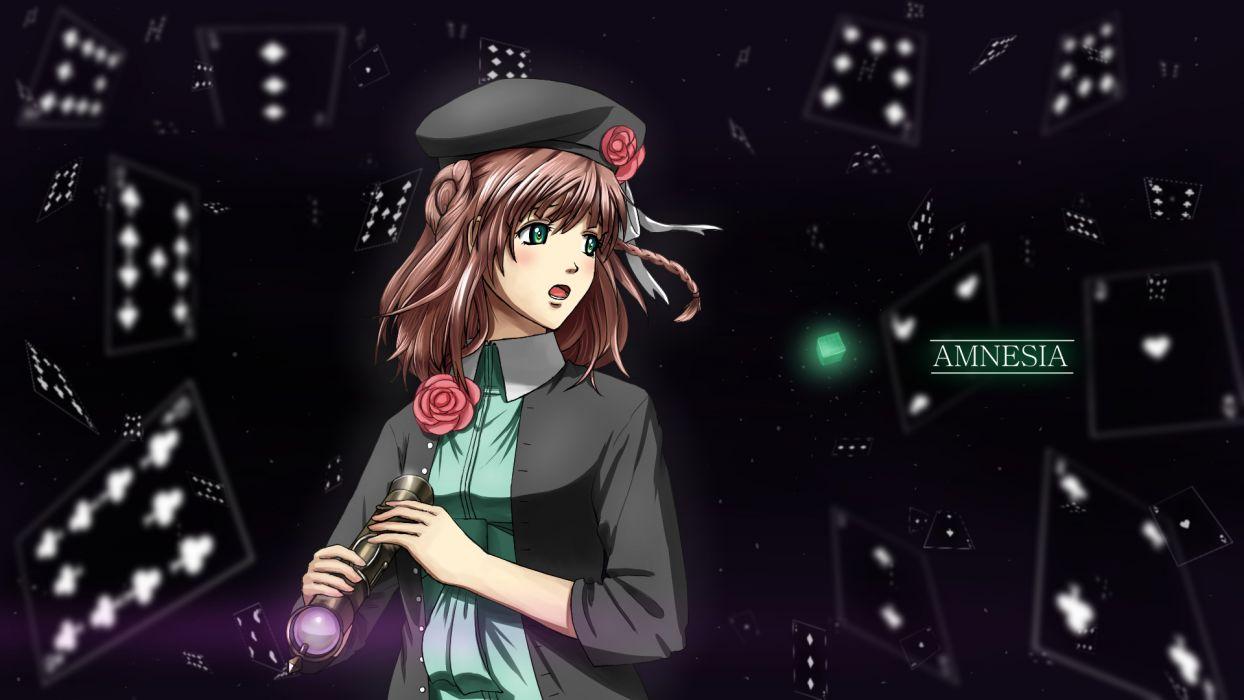 Amnesia girl flowers wallpaper