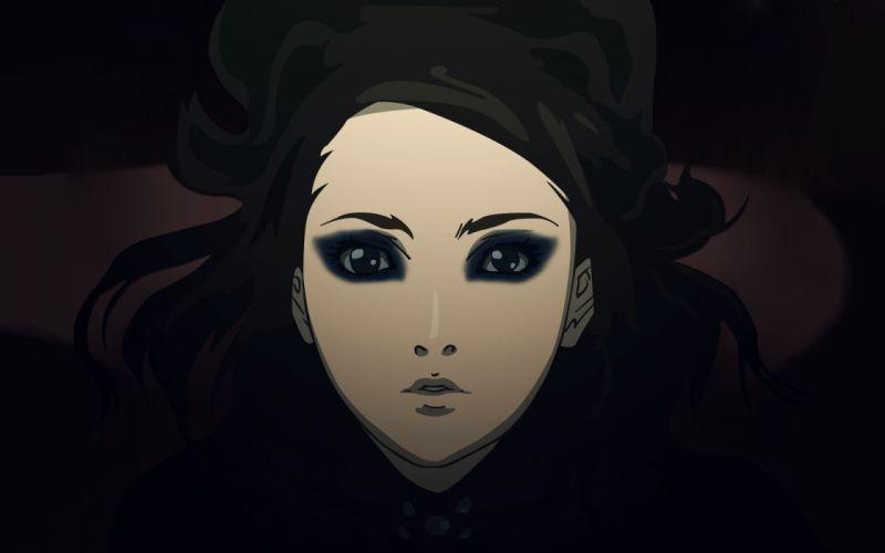 anime women females girls face eyes pov vector wallpaper