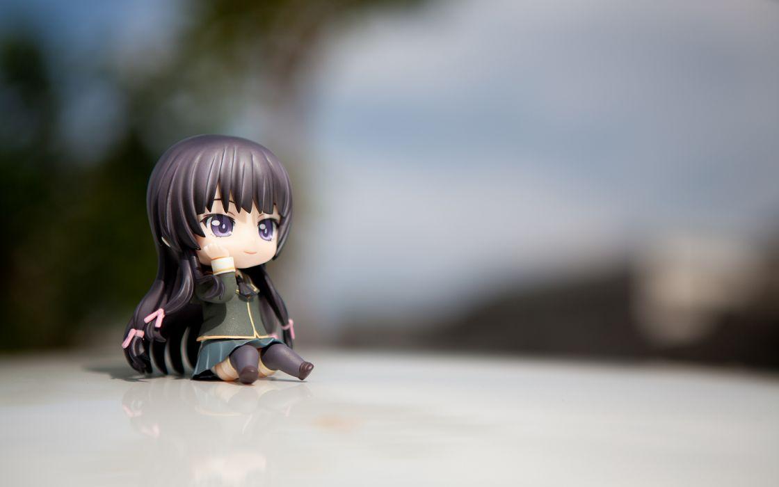 Anime Figure Miniature girl macro wallpaper