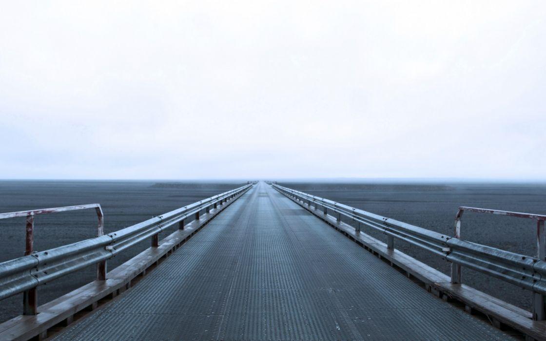 architecture bridges valley ocean sea sky roads wallpaper