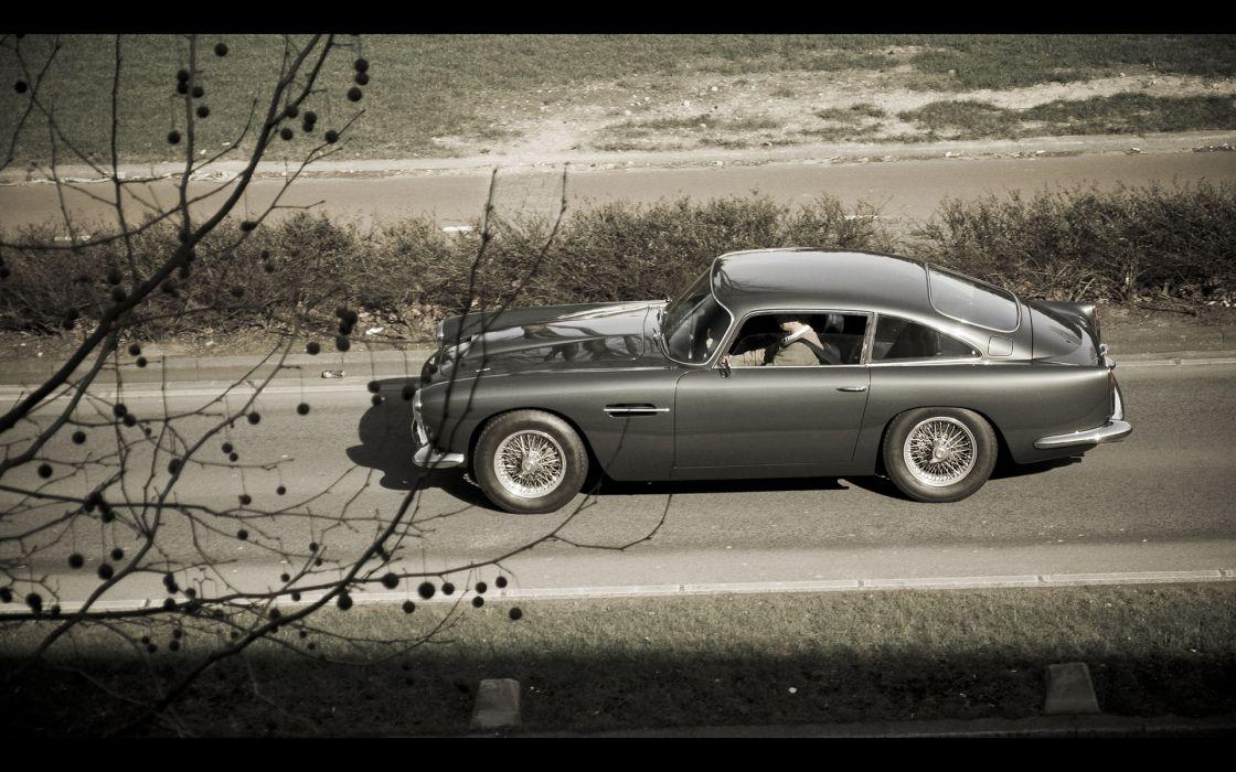 Aston Martin DB5 classic james bond 007 movies roads wallpaper