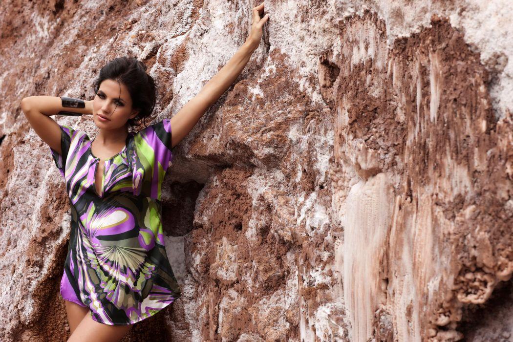 Diana Morales women females fashion glamour models brunettes sexy babes swimwear        t wallpaper