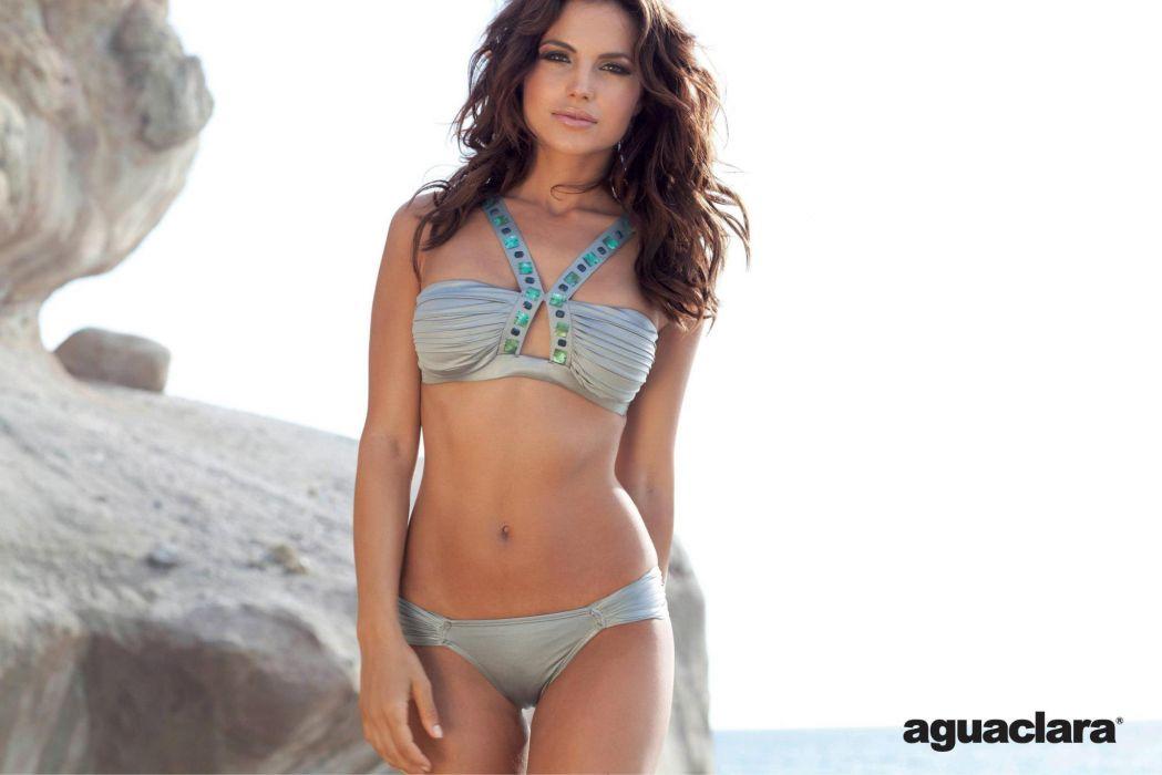 Diana Morales women females fashion glamour models brunettes sexy babes swimwear bikini             p wallpaper